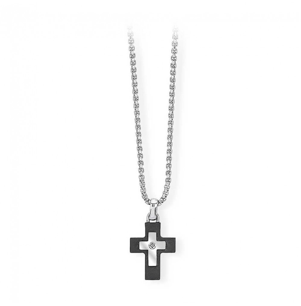 Cross Necklace - Black...