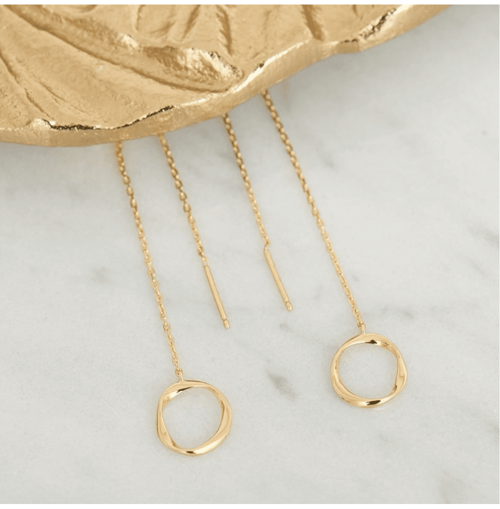 Swirl Threader Earrings