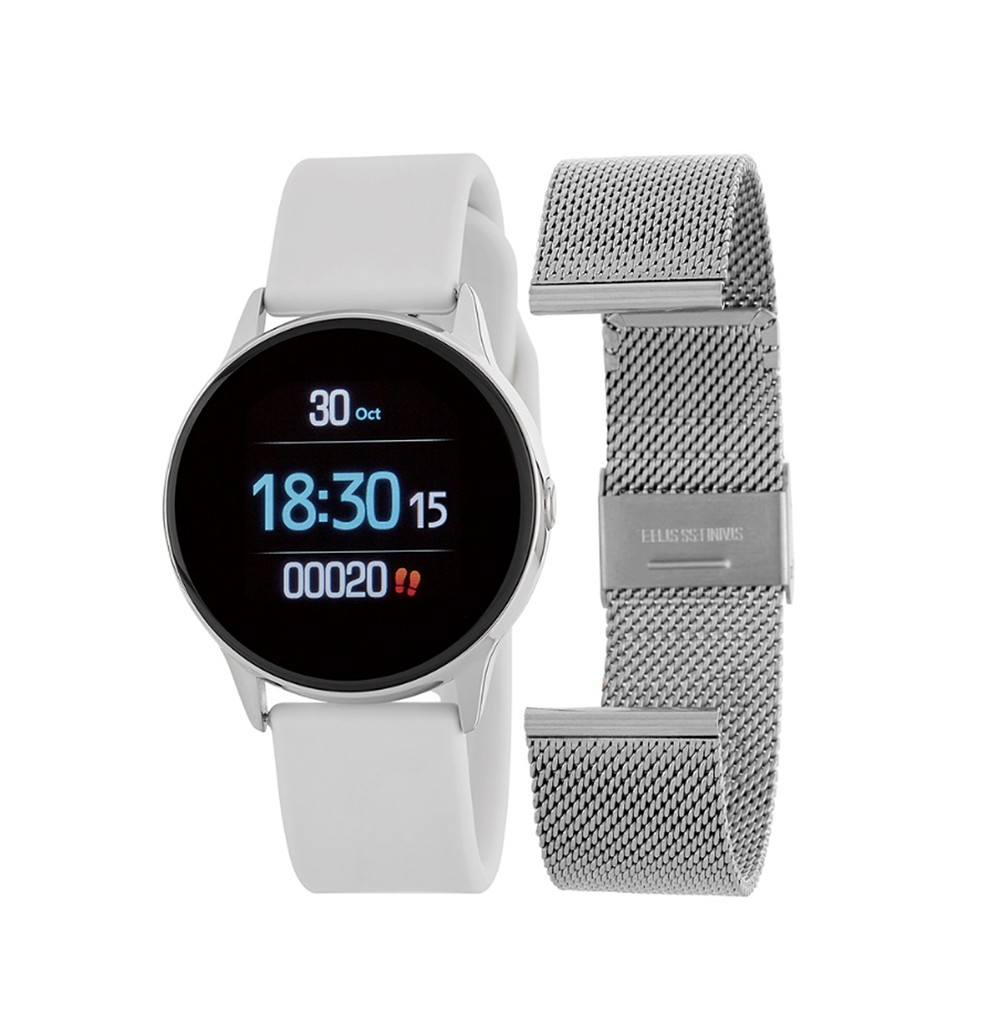 Smartwatch Round White and...