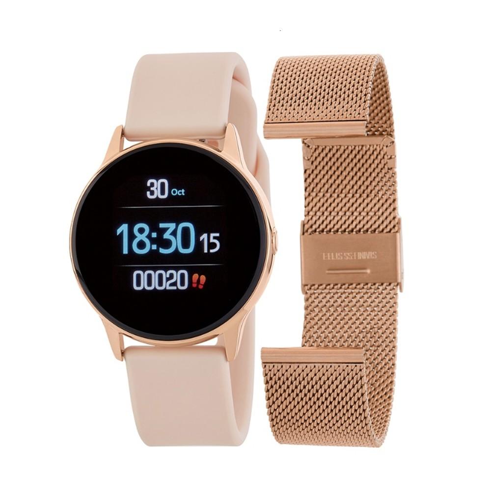 Smartwatch Round Rose Gold...