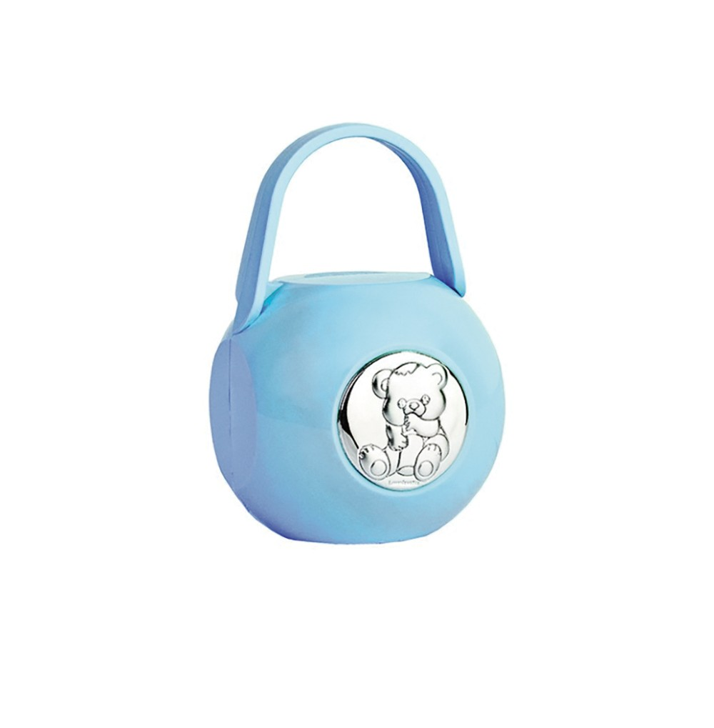 Porta Chupeta Ursinho Azul