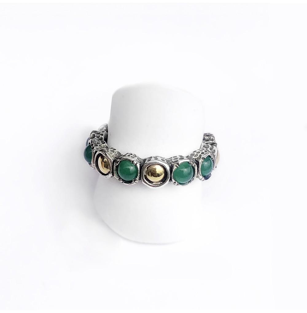 Anel Pedras verde esmeralda...