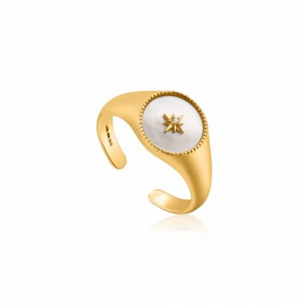 Emblem Signet Adjustable Ring