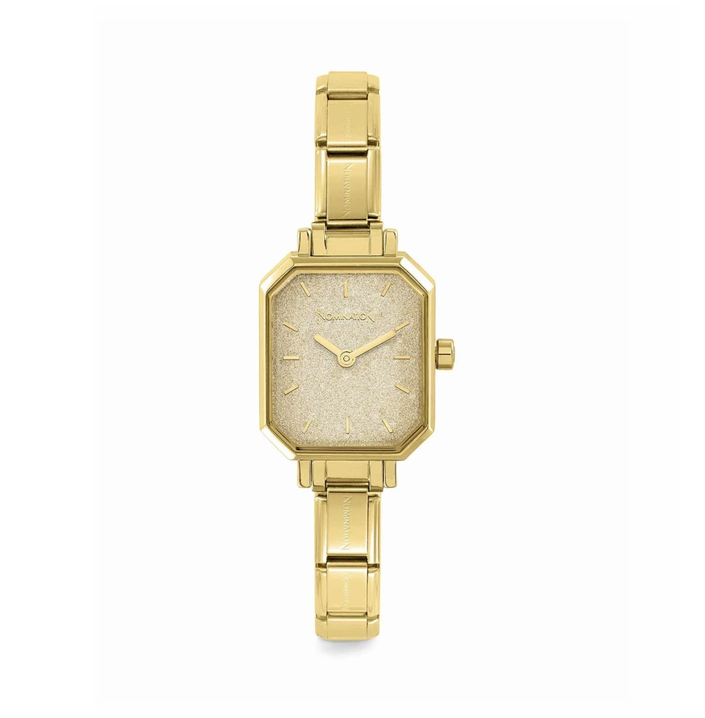 Composable watch with gold...