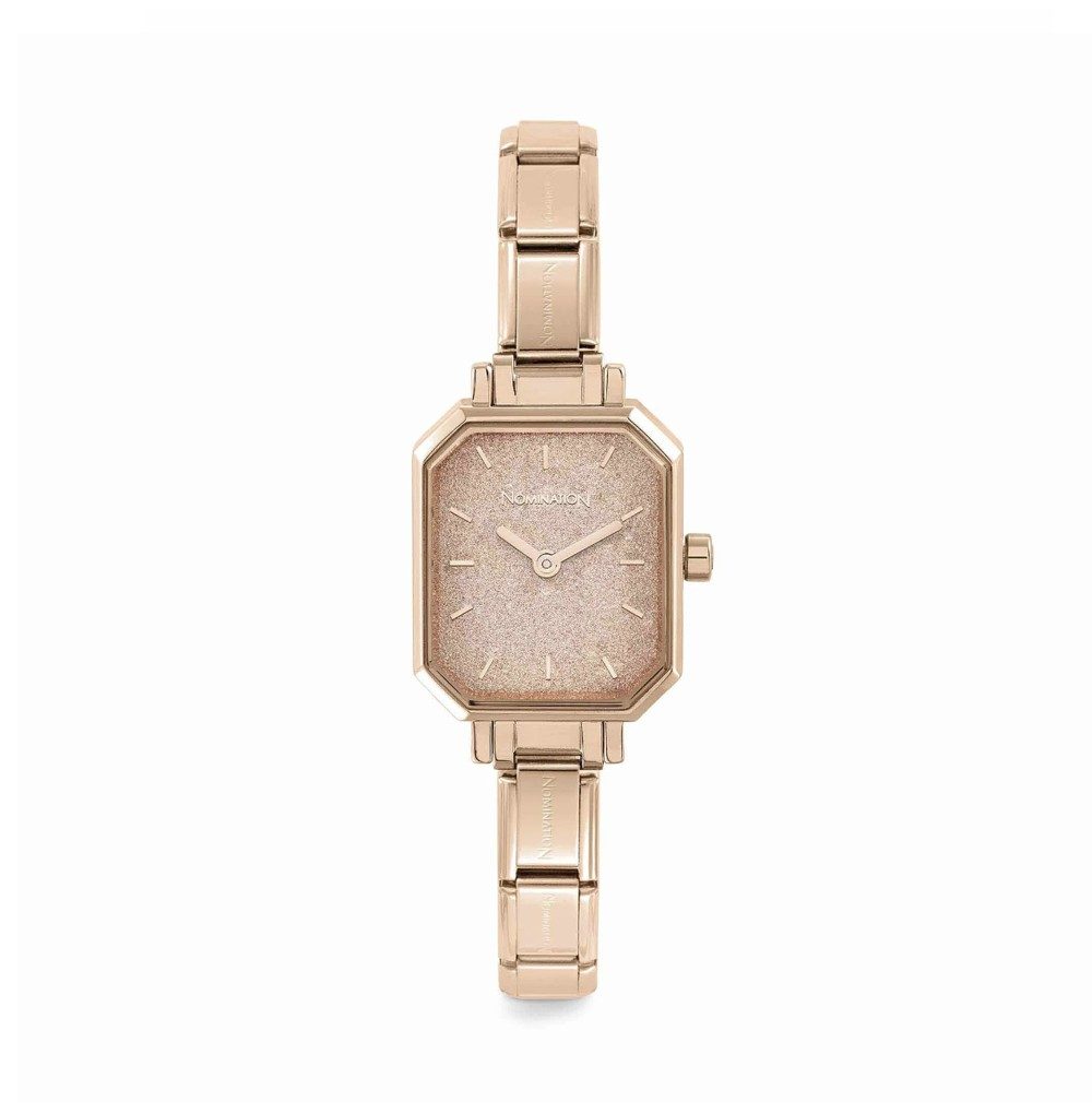 Composable watch with pink...