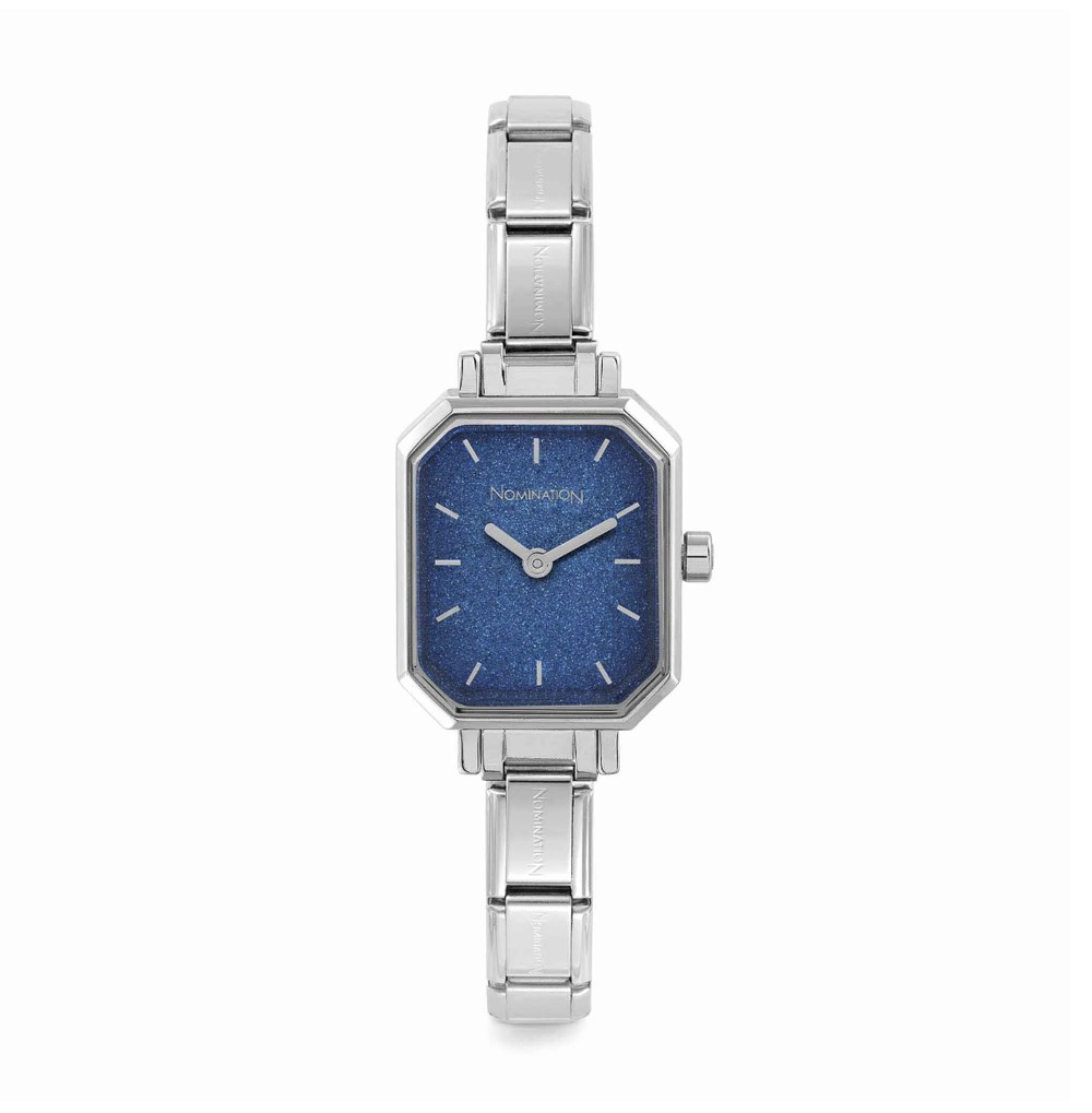 Composable watch with blue...