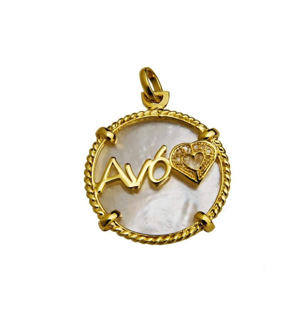 Medalha Madrepérola Avó