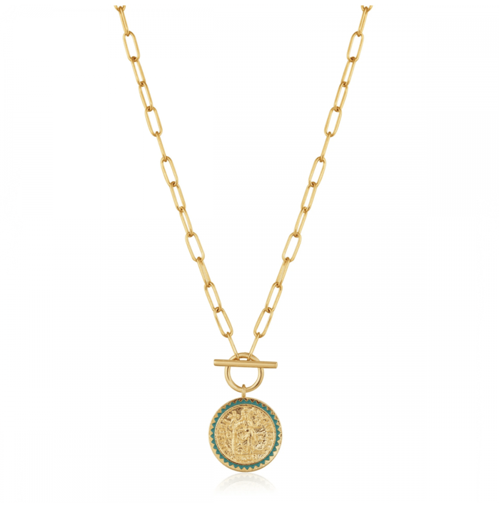 Gold Emperor T-bar Necklace