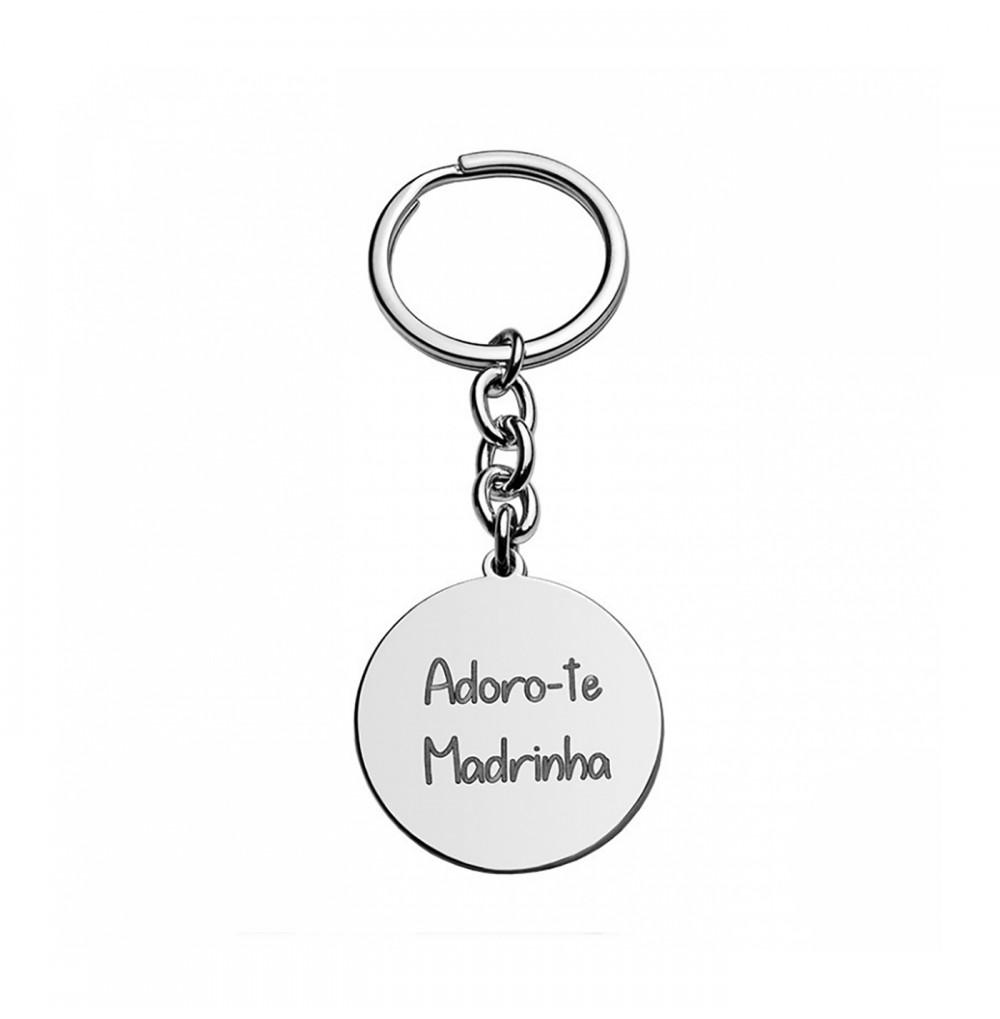 Porta-chaves Adoro-te Madrinha