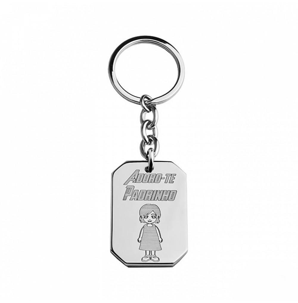 Porta-chaves Adoro-te Padrinho