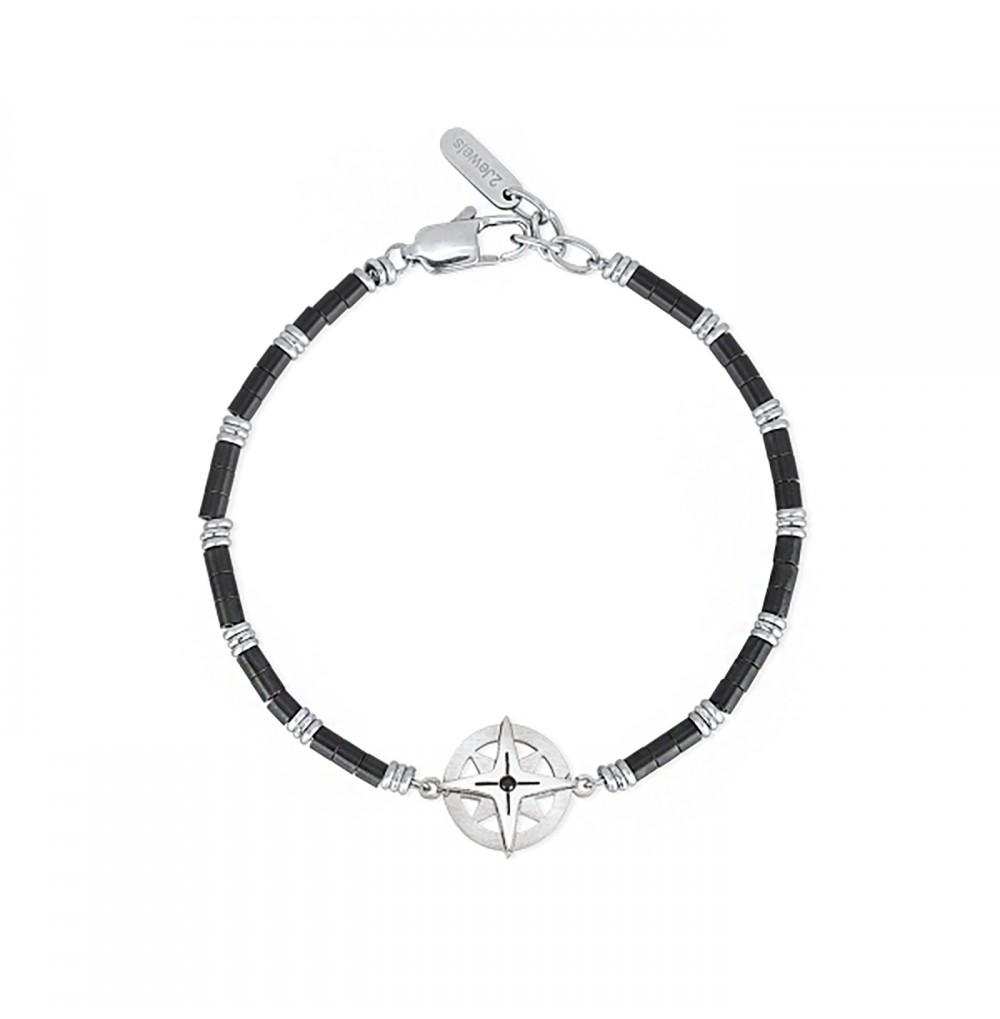 Silver Wind Rose Bracelet -...