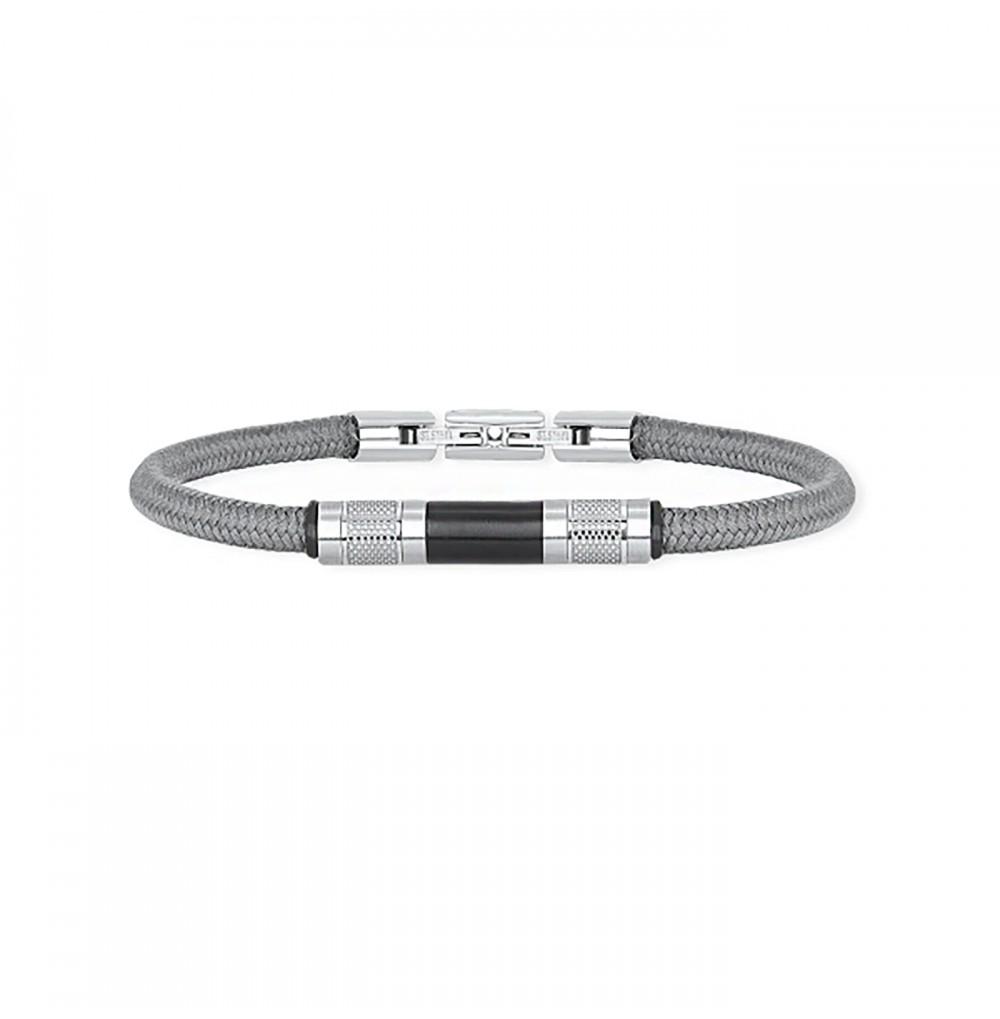Grey Nylon Bracelet - Tube...