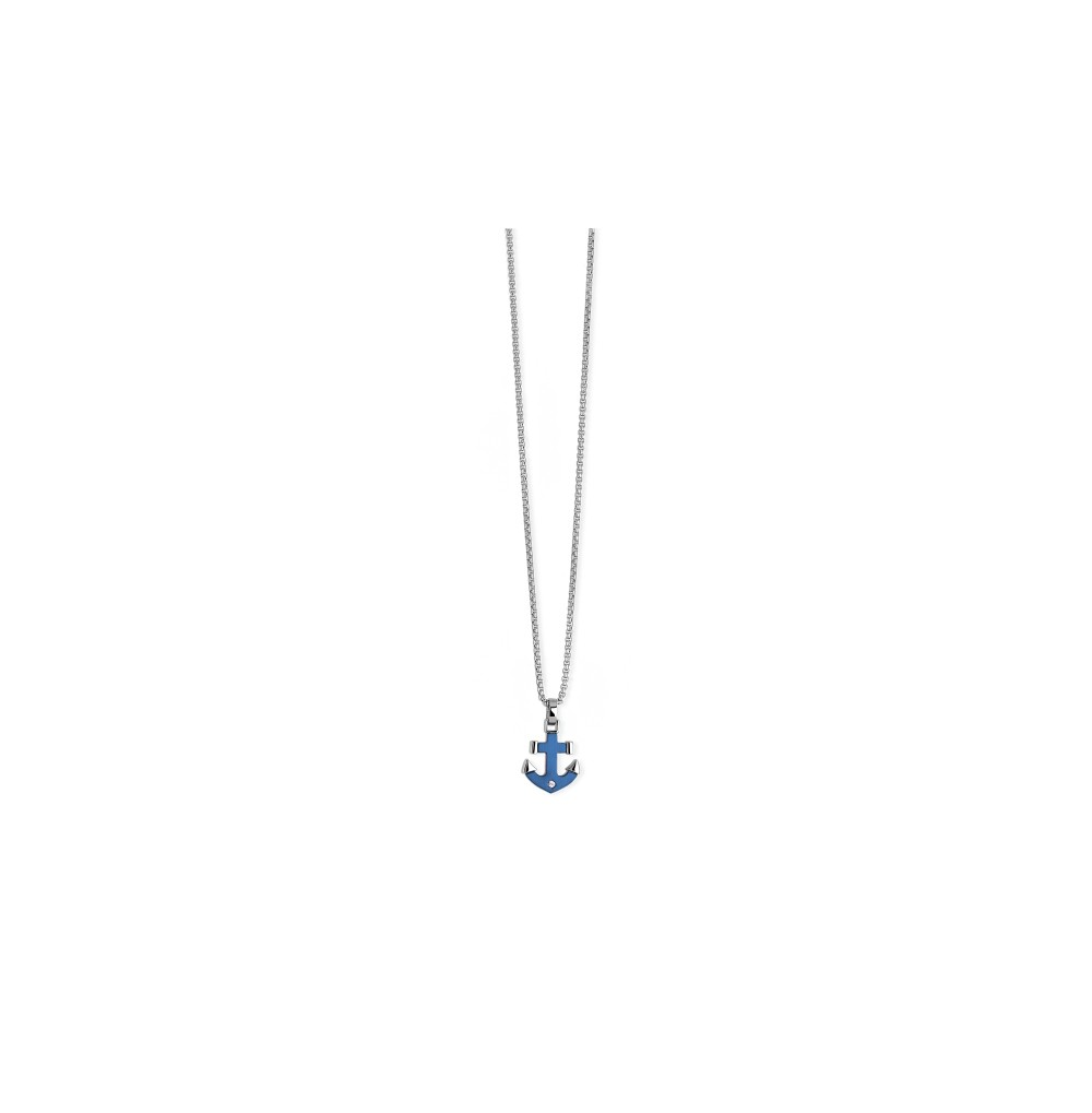 Blue Anchor Necklace - Navy...