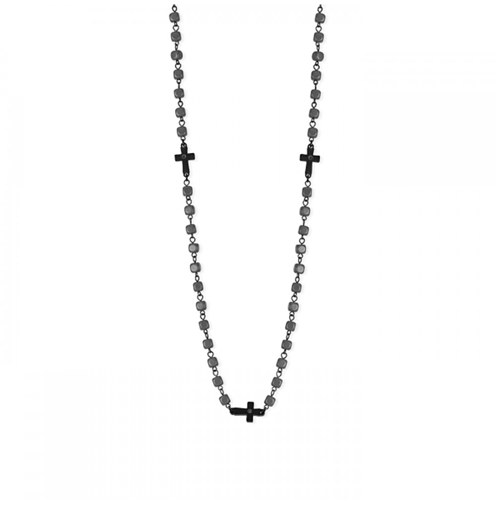 Black Crosses Necklace -...
