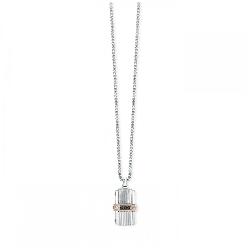 Bicolour Medal Necklace -...
