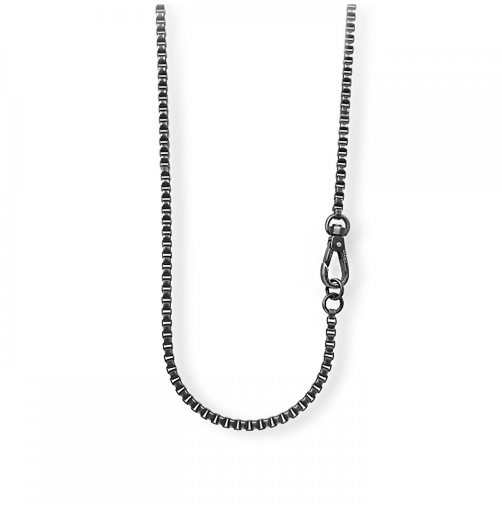 Black Carabiner Necklace -...