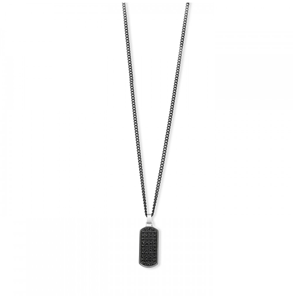 Black Medal Necklace -...