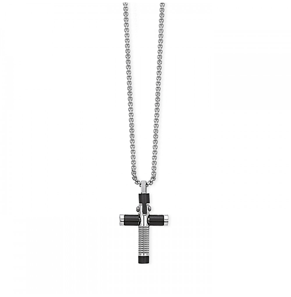 Black Cross Necklace -...